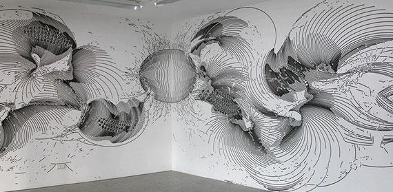 Wandzeichnung #17, 2006 by Gerhard Mayer